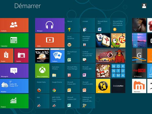 Naviguer entre les applications Windows 8